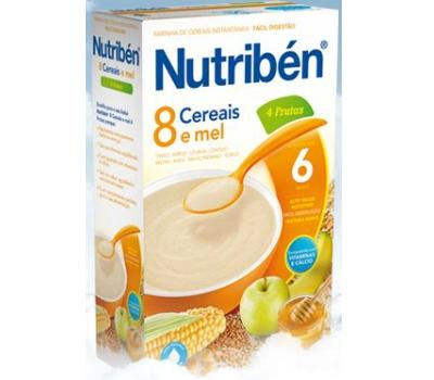 Nutribén 8 Cereais e Mel 4 Frutas Não Láctea