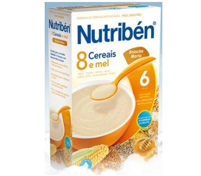 Nutribén 8 Cereais e Mel Bolacha Maria Não Láctea