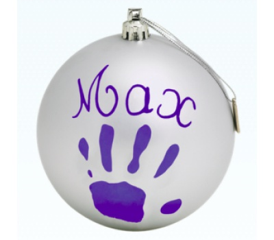 Baby Art Christmas Ball - Prateado